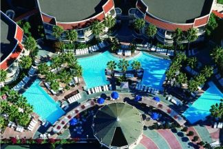 aerial shot of the pool deck