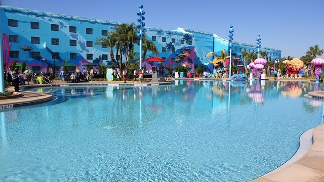 the biggest pool at disney world - the art-of-animation-pool