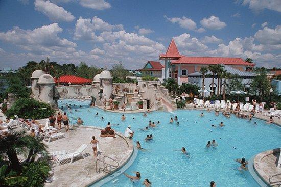 Largest pools at WDW - Caribbean Beach pool