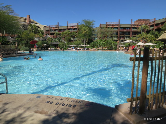 largest pools disneyland - kidani pool